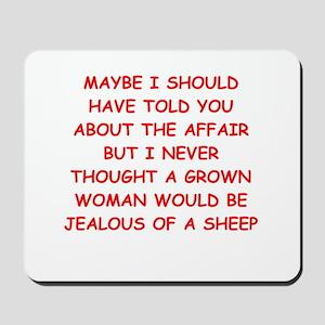funny marriage joke Mousepad