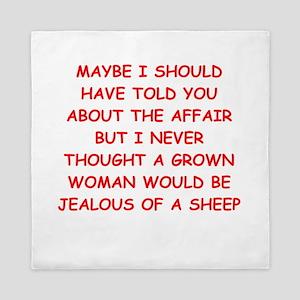 funny marriage joke Queen Duvet