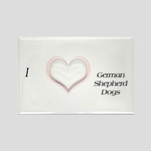 I heart German Shepherd Rectangle Magnet