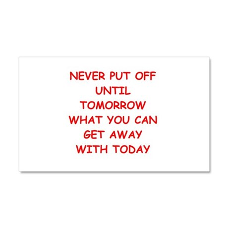 TODAY.png Car Magnet 20 x 12