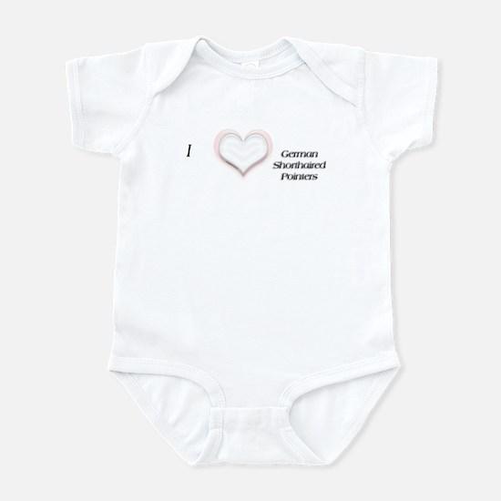 I heart German Shorthaired Infant Creeper