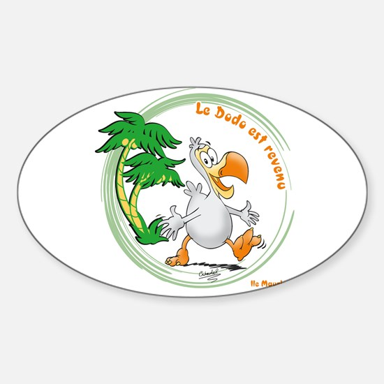 Dodo comes back Oval Decal