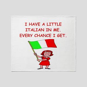 ITALIAN Throw Blanket