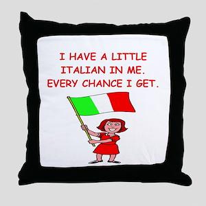 ITALIAN Throw Pillow