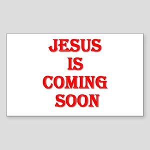 Jesus is coming soon Sticker (Rectangle)