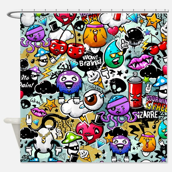 Cool Graffiti Shower Curtain
