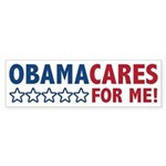ObamaCares for Me! Sticker (Bumper)