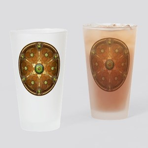 Celtic Shield - Green Chieftain Drinking Glass