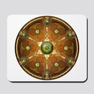 Celtic Shield - Green Chieftain Mousepad