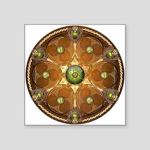 """Celtic Shield - Green Chieftain Square Sticker 3"""""""