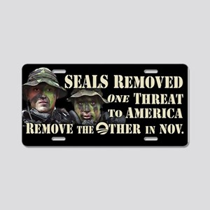 Seals Removed One Threat Aluminum License Plate