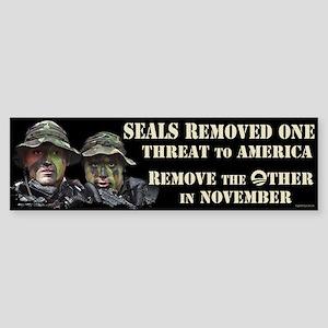 Seals Removed One Threat Sticker (Bumper)