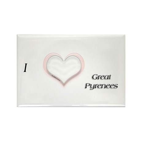 I heart Great Pyr Rectangle Magnet