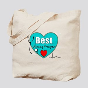Best Nursing Preceptor blue Tote Bag