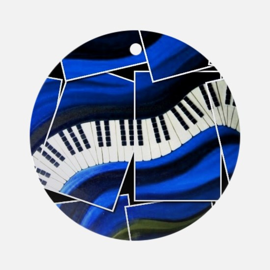 Broken Piano Ornament (Round)