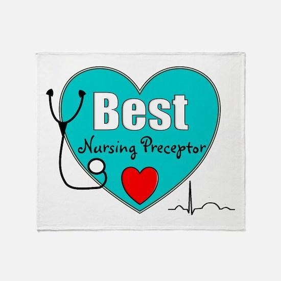 Best Nursing Preceptor blue.PNG Throw Blanket