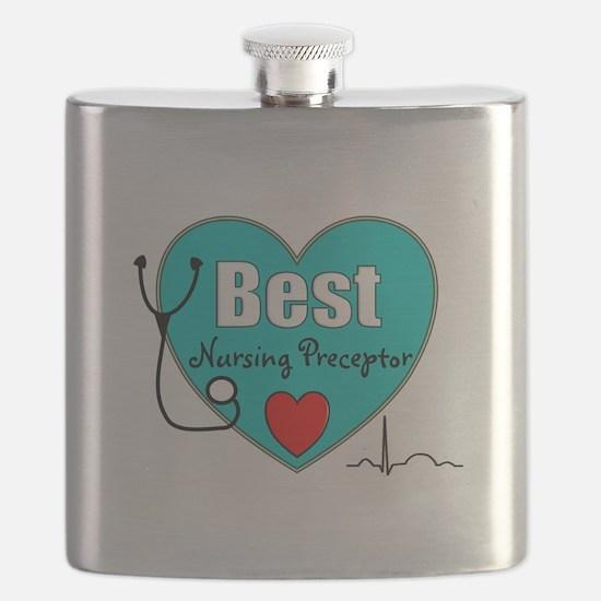 Best Nursing Preceptor blue.PNG Flask