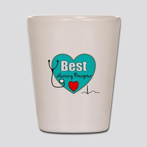 Best Nursing Preceptor blue Shot Glass