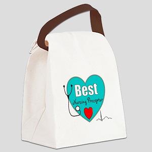 Best Nursing Preceptor blue Canvas Lunch Bag