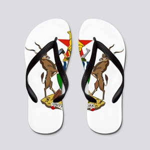 zimbabwe coat of arms Flip Flops