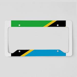 tanzania flag License Plate Holder