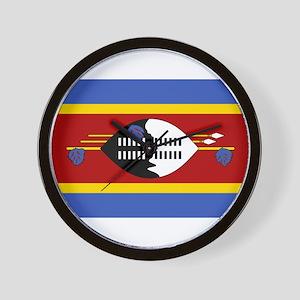 swaziland flag Wall Clock