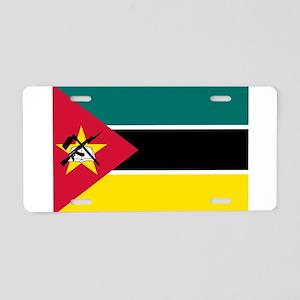 mozambique flag Aluminum License Plate