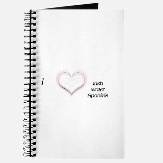 I heart Irish Water Spaniels Journal