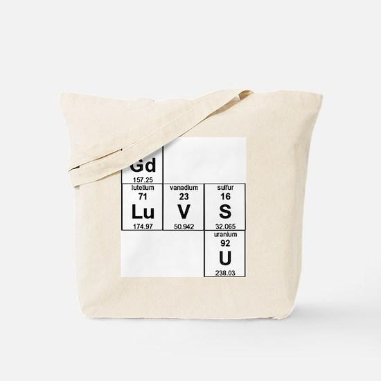 Cute Periodic table Tote Bag