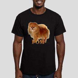 Pomeranian head dog art Men's Fitted T-Shirt (dark