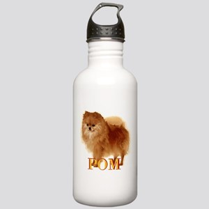 Pomeranian head dog art Stainless Water Bottle 1.0