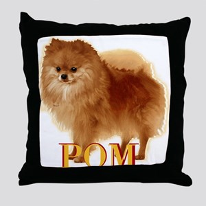 Pomeranian head dog art Throw Pillow