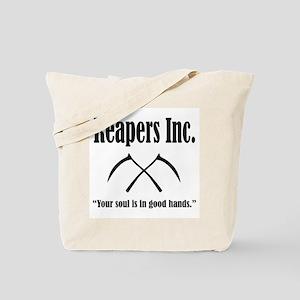 Reapers Inc. Logo and Slogan Tote Bag