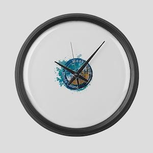 Rhode Island - Weekapaug Large Wall Clock