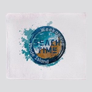 Rhode Island - Weekapaug Throw Blanket