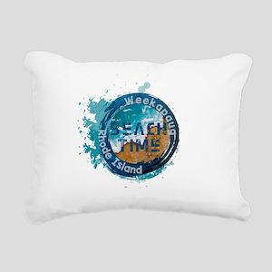 Rhode Island - Weekapaug Rectangular Canvas Pillow