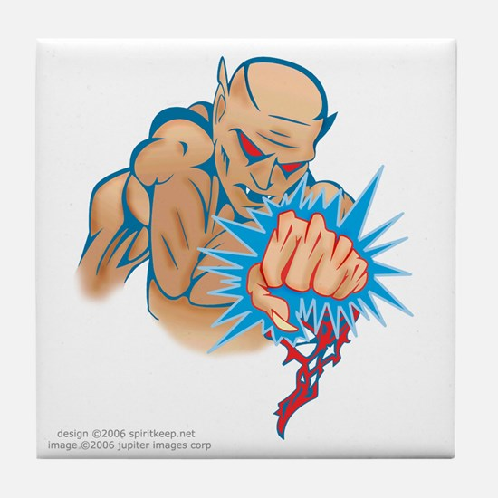 Muscled Fighter Tile Coaster