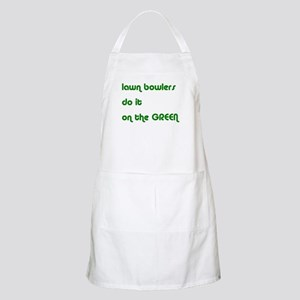 Lawn Bowlers Do It BBQ Apron