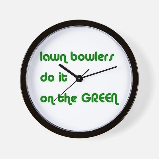 Lawn Bowlers Do It Wall Clock