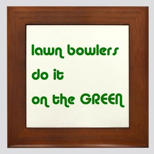 Lawn Bowlers Do It Framed Tile