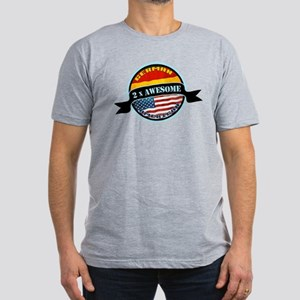 German American 2x Awesome Men's Fitted T-Shirt (d