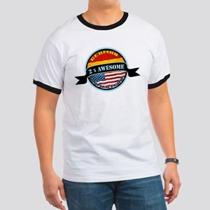 German American 2x Awesome Ringer T