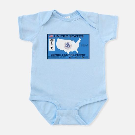 Zombie Hunting Permit Infant Bodysuit