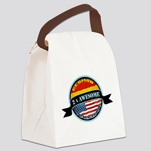 German American 2x Awesome Canvas Lunch Bag