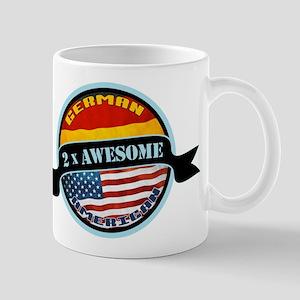 German American 2x Awesome Mug