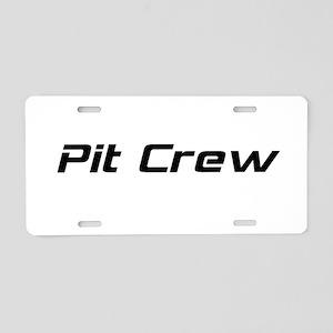 Pit Crew Aluminum License Plate