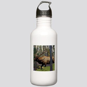 Bull elk in pines Stainless Water Bottle 1.0L
