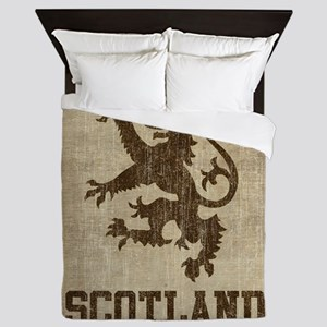 Vintage Scotland Queen Duvet