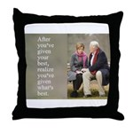'Give your best' Throw Pillow