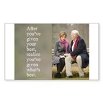 'Give your best' Sticker (Rectangle 10 pk)